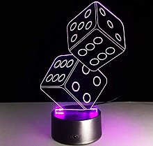 3D Lights Night lamp dice,Can be Used for The
