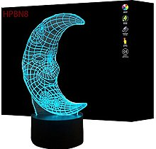 3D Moon Night Light Touch Table Desk Lamp,7 Colors