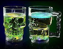 3D Multicolor LED Head Skull Mug Shot Glass