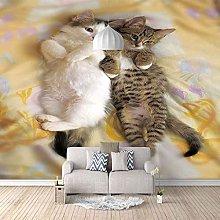 3D Mural Animal Kitten Bedroom Wallpaper Photo