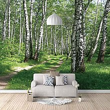 3D Mural Birch Tree Landscape Bedroom Wallpaper