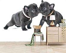 3D Mural Black Animal Dog Bedroom Wallpaper Photo
