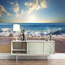 3D Mural Blue sea Landscape Bedroom Wallpaper