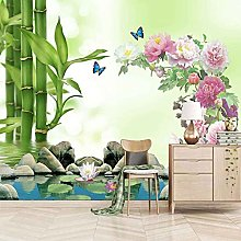 3D Mural Butterfly Pink Flowers Bedroom Wallpaper
