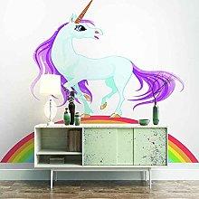 3D Mural Cartoon Animal Horse Bedroom Wallpaper