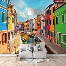 3D Mural Colored Houses in Shuicheng Bedroom