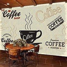 3D Mural European Nostalgic Cafe Restaurant