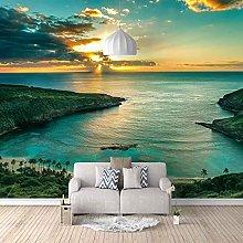 3D Mural Green sea Landscape Bedroom Wallpaper