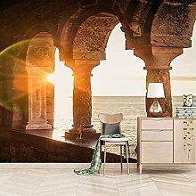 3D Mural Sunny Architectural Landscape Bedroom
