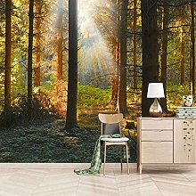 3D Mural Sunny Forest Scenery Bedroom Wallpaper