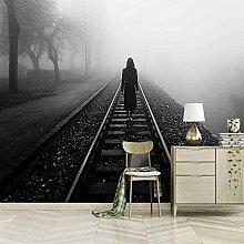 3D Mural Train Track Bedroom Wallpaper Photo