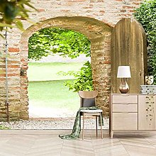 3D Mural Vintage Brick Wall Arches Bedroom