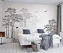 3D Mural Wall Sticker 简约 树鸟