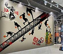 3D Mural Wallpaper Basketball Wallpaper for