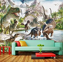 3D Mural Wallpaper Cartoon Dinosaur World Bedroom