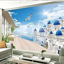 3D Mural Wallpaper for Wall European Seaside
