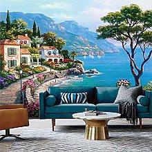 3D Mural Wallpaper Mediterranean Oil Painting