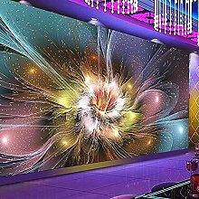 3D Mural Wallpaper Modern Cool Flower Bar