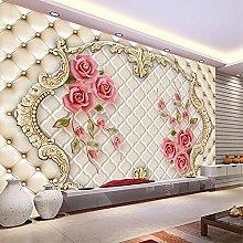 3D Mural Wallpaper Three-Dimensional Rose Soft Bag