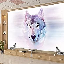 3D Mural Wolf Totem Animal Wallpaper Bedroom