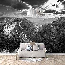 3D Mural Wuyun Mountain Cliff Scenery Bedroom