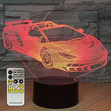 3D Night Light Car Next to The Lights 7 Color
