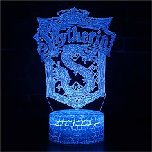 3D Night Light for Kids 3D Illusion Lamp Slytherin