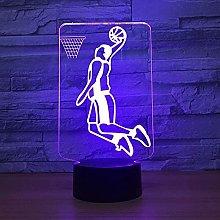 3D Night Light Illusion lamp Basketball,Home
