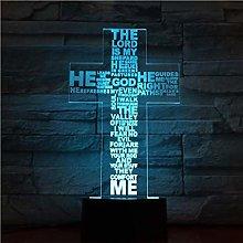 3D Night Light Jesus Christ Cross Shaped USB 3D