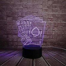 3D Night Light Led Lamp Magician Decoration Dice