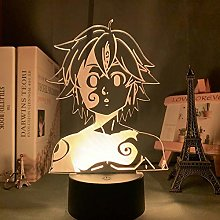 3D Night Light Manga Lamp The Seven Deadly Sins