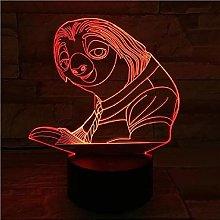 3D Night Light Night Light LED 3D Illusion USB red