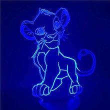 3D Night Lightthe Lion King Simba Led 3D Light