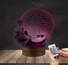 3D Optcal Illusion Lamp LED Night Light Facet,