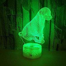 3D Optical Illusion Night Light for Boys Animal