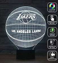 3D Optical Illusion Night Light Los Angeles Lakers