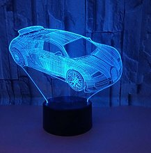 3D Optical Illusion Night Light Mood Lamp car