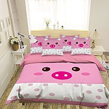 3D Painting Pink White Pig Lovely 597 Bedding