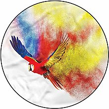 3D Parrot Pattern Area Rugs Carpets,4'
