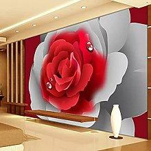3D Photo Wallpaper 3D Romantic red Rose Flower