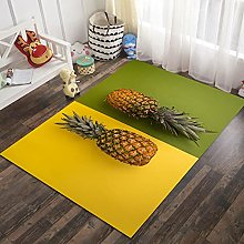 3D Pineapple Style Rectangular Area Carpet 63x91