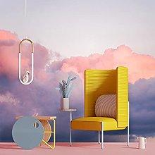 3D Pink Gradient Clouds Living Room Wallpaper