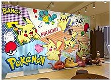 3D Pokémon Pikachu Children's Room Wallpaper