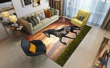 3D Print Carpet,Animal Living Room Carpet,Dark