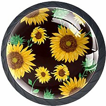 3D Printed Drawer Knobs Pull Beautiful Sunflower