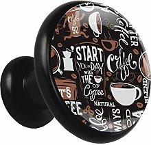 3D Printed Drawer Knobs Pull Coffee Milk Tea Drink