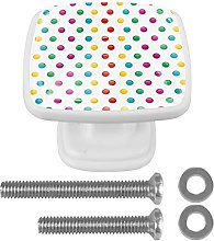 3D Printed Drawer Knobs Pull Colorful Dots