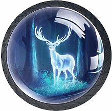 3D Printed Drawer Knobs Pull Forest Glowing Elk
