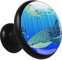 3D Printed Drawer Knobs Pull Whale Blue Animal