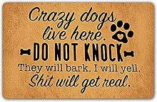 3d printed indoor door mat Funny Doormat Crazy